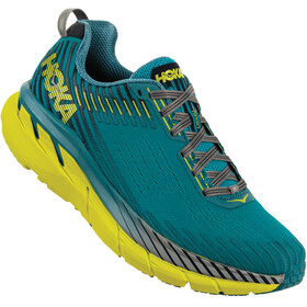 Hoka One One Clifton 5 Running Shoes Men yellow/turquoise